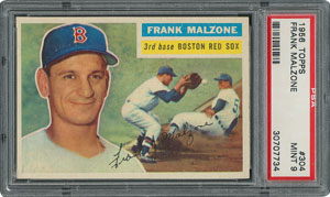 1956 Topps #304 Frank Malzone - PSA MINT 9 - one Higher!