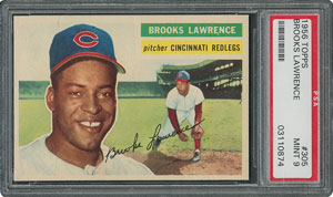 1956 Topps #305 Brooks Lawrence - PSA MINT 9 - None Higher!
