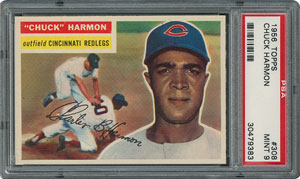 1956 Topps #308 Chuck Harmon - PSA MINT 9 - None Higher!