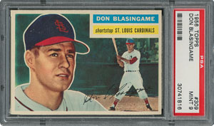1956 Topps #309 Don Blasingame - PSA MINT 9 - None Higher!