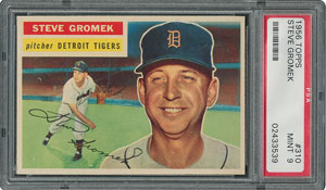 1956 Topps #310 Steve Gromek - PSA MINT 9 - None Higher!