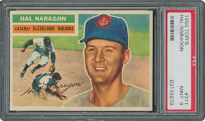 1956 Topps #311 Hal Naragon - PSA MINT 9 - None Higher!