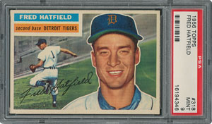 1956 Topps #318 Fred Hatfield - PSA MINT 9 - None Higher!