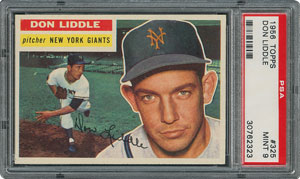 1956 Topps #325 Don Liddle - PSA MINT 9 - None Higher!