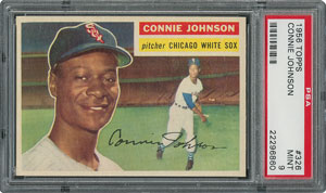 1956 Topps #326 Connie Johnson - PSA MINT 9 - one Higher!
