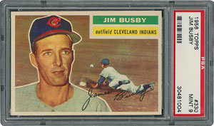 1956 Topps #330 Jim Busby - PSA MINT 9 - None Higher!