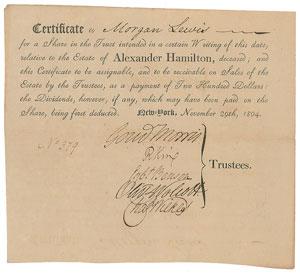 Alexander Hamilton Estate