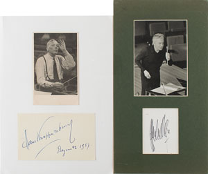 Herbert von Karajan and Hans Knappertsbusch