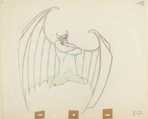 Chernabog production drawing from Fantasia