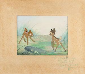 Walt Disney Signed Bambi Master Background Set-Up