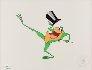 Michigan J. Frog limited edition sericel from Warner Bros. Animation
