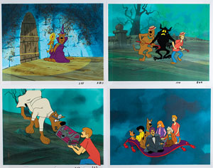 Group of (4) production cels from The 13 Ghosts of Scooby-Doo