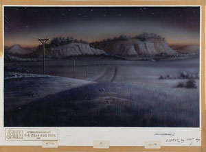 Landscape hand-painted production background from The Fearless Four
