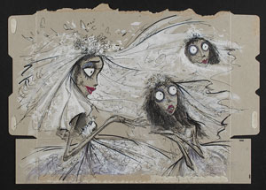 Emily the Corpse Bride concept painting from Corpse Bride