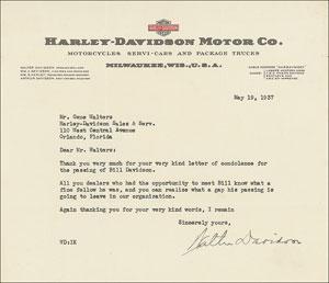 Harley-Davidson: Walter Davidson
