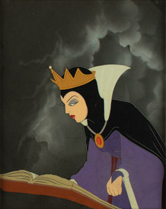 Evil Queen production cel from Snow White and the Seven Dwarfs