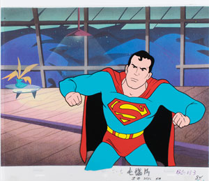 Superman production cel from The New Adventures of Superman