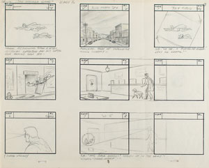 Clark Kent, Lana Lang, and Krypto storyboard from The Adventures of Superboy