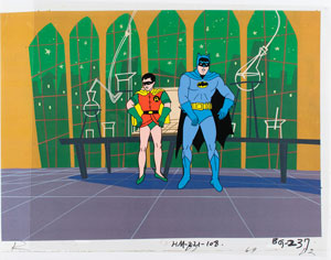 Batman and Robin production cel from The Adventures of Batman TV Show