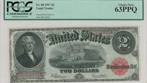 Fr. 60 1917 $2 Legal Tender