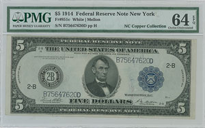 Fr. 851c 1914 $5 Federal Reserve Note