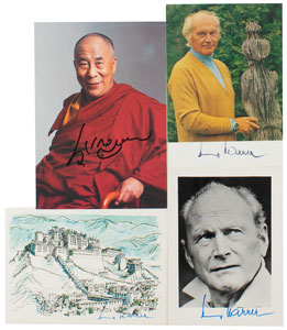 Dalai Lama and Heinrich Harrer