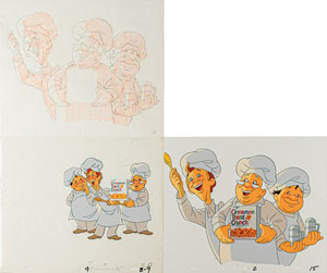 Cinnamon Toast Crunch production cels and drawings from General Mills television commercial