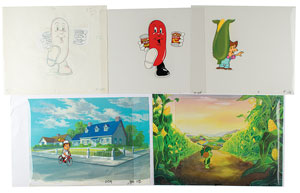 Canned food production cels  from television commercials