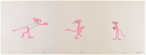 Pink Panther production cels from the Pink Panther Television Show