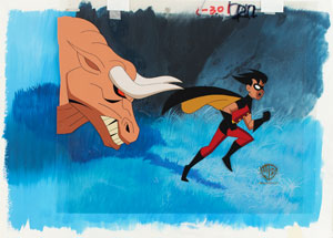 Robin production cel from The New Batman Adventures