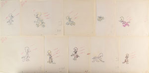 Woody Woodpecker production drawings from The Woody Woodpecker Show