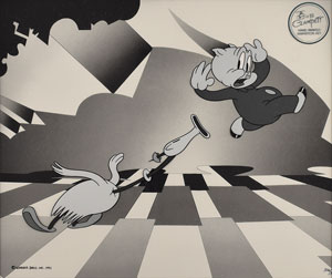 Porky Pig limited edition cel from a Bob Clampett cartoon