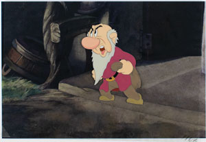 Grumpy production cel from Snow White and the Seven Dwarfs