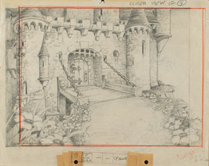 Castle production drawing from Giantland