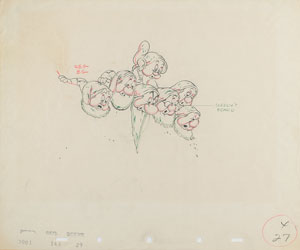 The Dwarfs production drawing from Snow White and the Seven Dwarfs