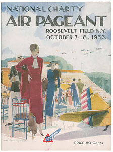 Aviation: National Charity Air Pageant Program and Ticket Stub