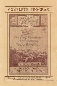 Wright Brothers Dayton Homecoming Program