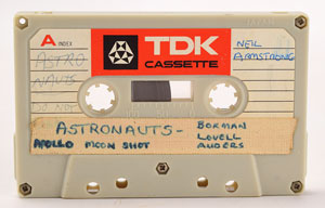 Apollo Astronaut Recordings Cassette Tape
