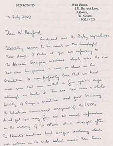 Mavis Batey Autograph Letter Signed