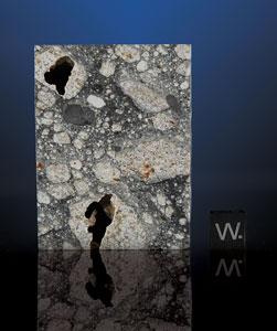 """Northwest Africa (NWA) 5000 Lunar Meteorite Part Slice """"The Eclipse"""""""