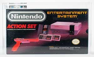 Nintendo Entertainment System (NES) Action Set with Zapper - VGA NM 80