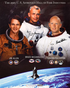 Space Shuttle: McCandless, Fullerton, and Allen Signed Photograph