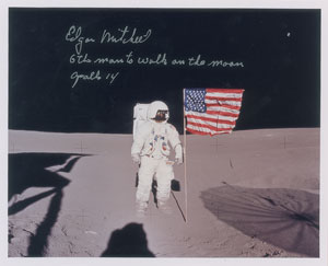 Edgar Mitchell Signed Photograph
