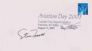 Steve Fossett Signed Cover