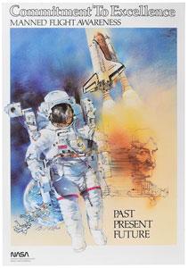 Space Shuttle Manned Flight Awareness Poster