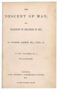 Charles Darwin Signature and Book