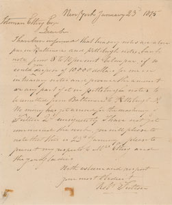 Robert Fulton Autograph Letter Signed
