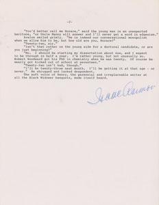 Isaac Asimov Signed Typescript