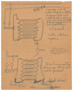 Thomas Edison Technical Notes and Handdrawn Diagrams