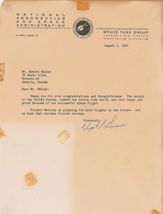 Gus Grissom Typed Letter Signed and Signed Photograph